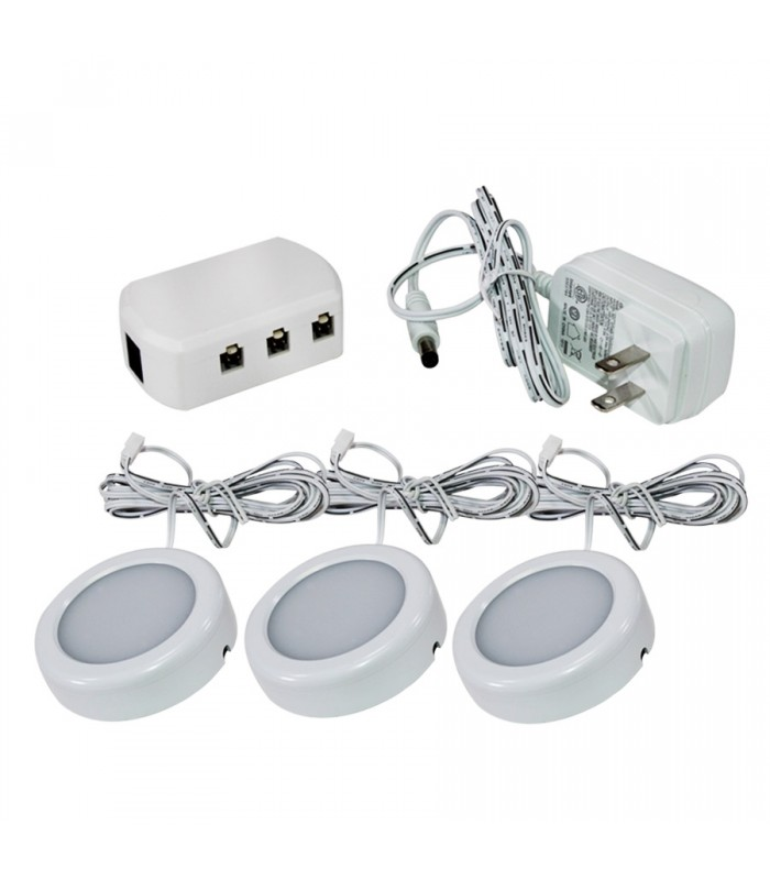 Ason Decor 3 LED Lighting Pucks Set - 120V - 2.5W - 3000K/4000K