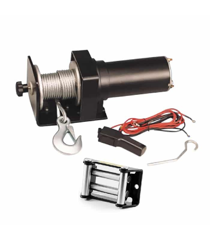 Electric Winch 12/24V - 0.5 HP - 1500lbs - With Metal Gear System